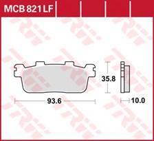 TRW Plaquettes de frein organique MCB821