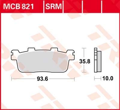 TRW Plaquettes de frein métal fritté SRM MCB821SRM