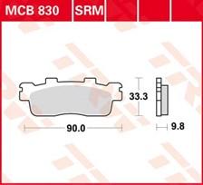 TRW Plaquettes de frein organique MCB830