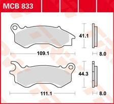 TRW Plaquettes de frein organique MCB833