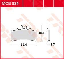 TRW Plaquettes de frein organique MCB834