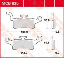 TRW Plaquettes de frein organique MCB835