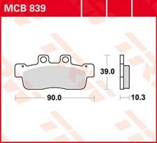 TRW Plaquettes de frein organique MCB839