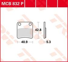 TRW Plaquettes de frein organique MCB832P