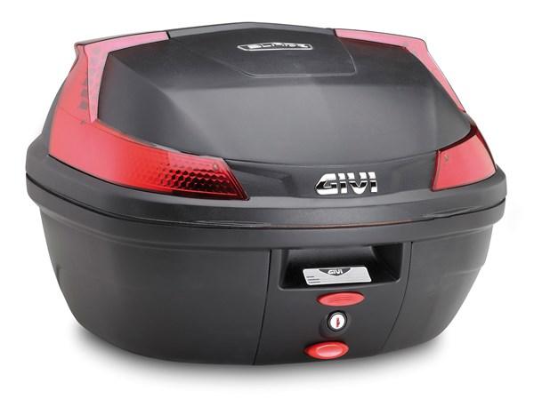 GIVI B47 Blade top case reflecteurs rouges, cahce noir