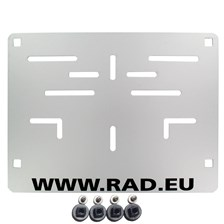RAD Porte plaque européen Aluminium RAD