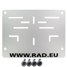 RAD Europese nummerplaathouder Aluminium RAD