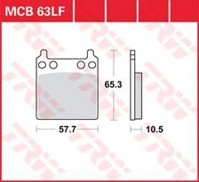 TRW Plaquettes de frein organique MCB063