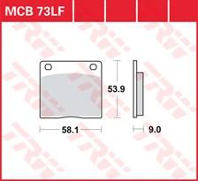 TRW Plaquettes de frein organique MCB073