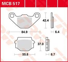 TRW Plaquettes de frein organique MCB517