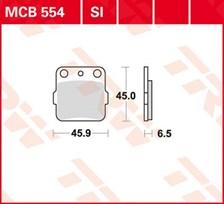 TRW Plaquettes de frein métal fritté SI MCB554SI