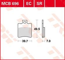 TRW Plaquettes de frein organique EC MCB696EC