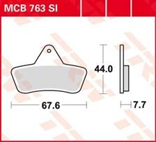 TRW Plaquettes de frein métal fritté SI MCB763SI