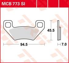 TRW Plaquettes de frein métal fritté SI MCB773SI