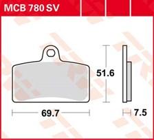 TRW Plaquettes de frein organique MCB780