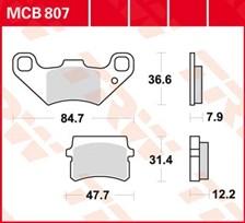TRW Plaquettes de frein organique MCB807