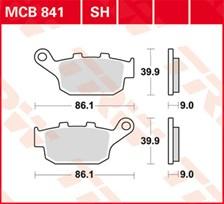 TRW Plaquettes de frein organique MCB841