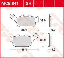 TRW Plaquettes de frein SV/SH MCB841SH