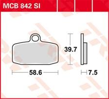 TRW Plaquettes de frein métal fritté SI MCB842SI