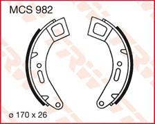 TRW Mâchoires de freins MCS982