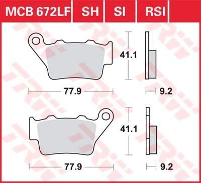 TRW Plaquettes de frein organique EC MCB672EC