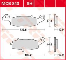 TRW Plaquettes de frein organique MCB843