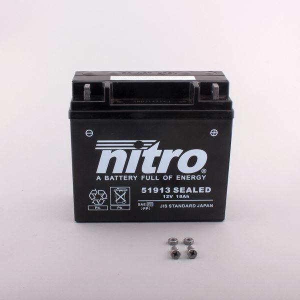 NITRO Batterie fermée sans entretien 51913 SEALED