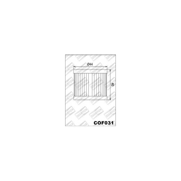 CHAMPION Filtre à huile interne COF031