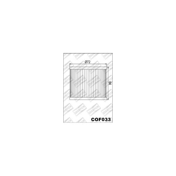 CHAMPION Filtre à huile interne COF033