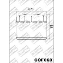 CHAMPION Uitwendige oliefilter - Zwart COF060
