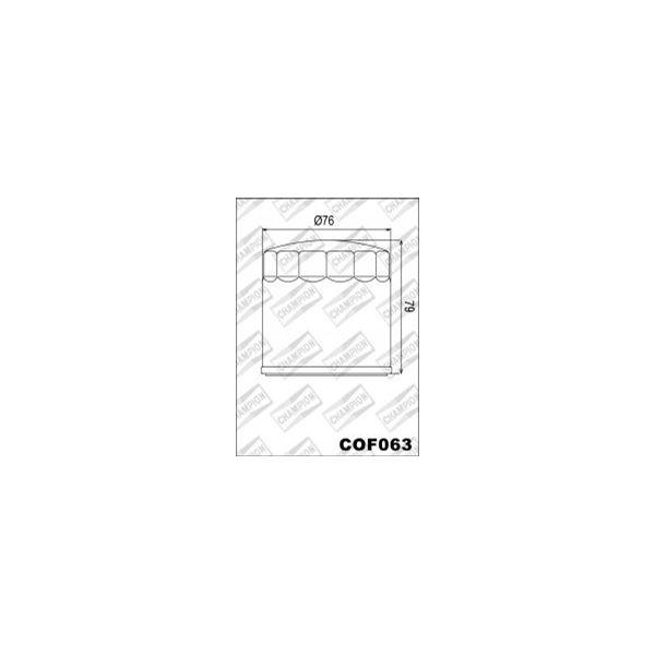 CHAMPION Uitwendige oliefilter - Zwart COF063