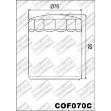 CHAMPION Filtre à huile externe - Chromé COF070C