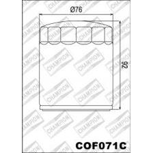 CHAMPION Uitwendige oliefilter - Chroom COF071C