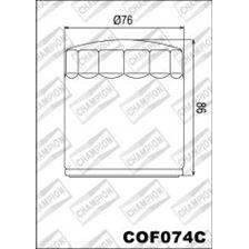 CHAMPION Filtre à huile externe - Chromé COF074C