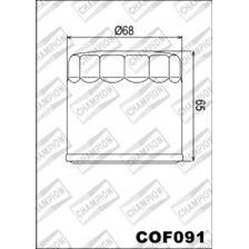 CHAMPION Filtre à huile externe - Noir COF091