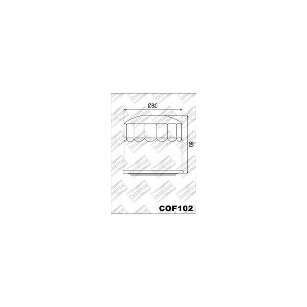 CHAMPION Filtre à huile externe - Noir COF102