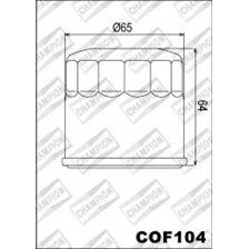 CHAMPION Filtre à huile externe - Noir COF104
