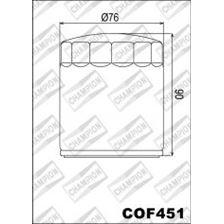 CHAMPION Filtre à huile externe - Noir COF451