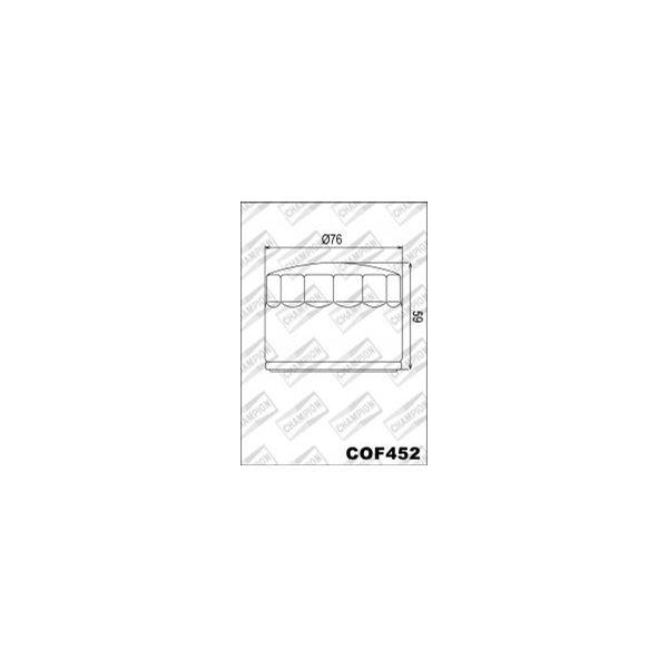 CHAMPION Filtre à huile externe - Noir COF452