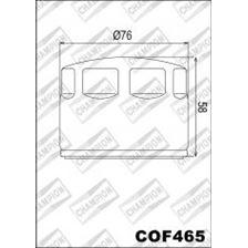CHAMPION Filtre à huile externe - Noir COF465