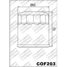 CHAMPION Filtre à huile externe - Noir COF203