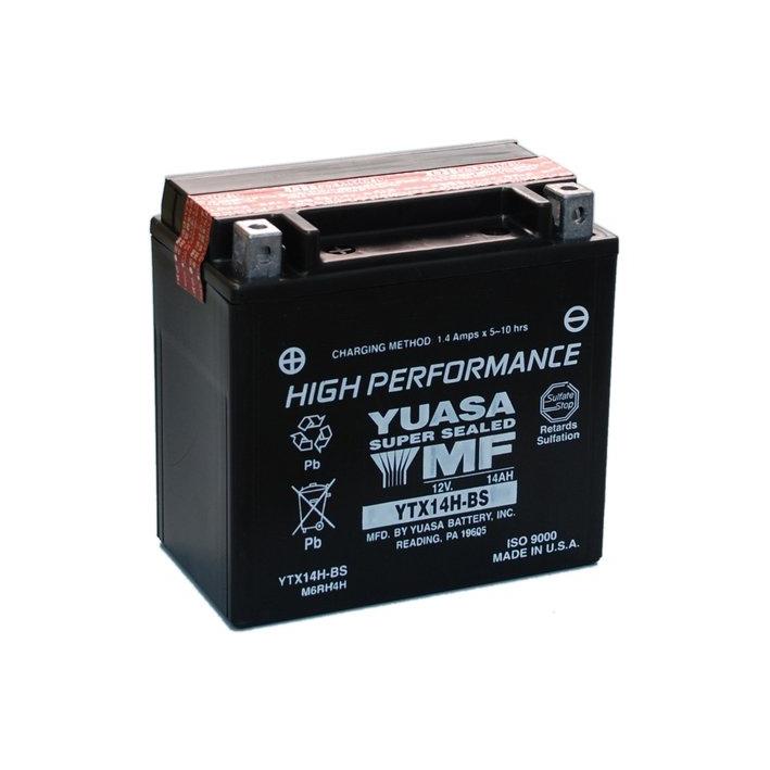 yuasa batterie sans entretien haute performance ytx14h bs. Black Bedroom Furniture Sets. Home Design Ideas