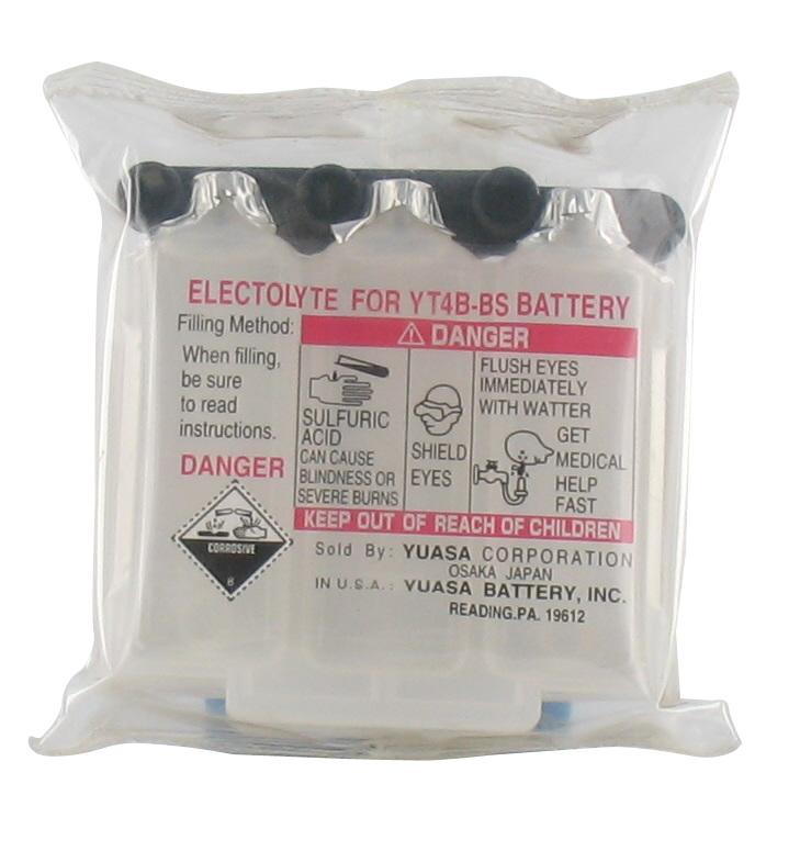 Yuasa acide pour batteries sans entretient acid yt4b - Acide pour batterie ...