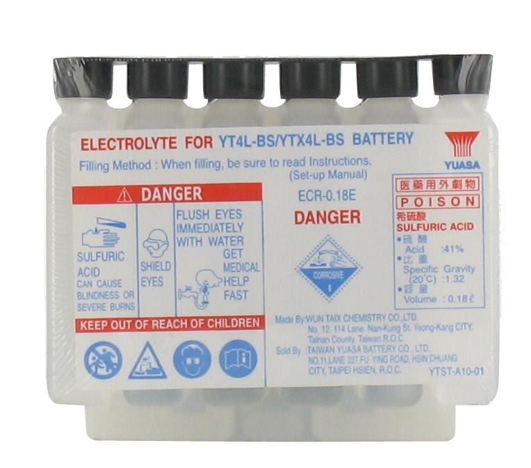 Yuasa acide pour batteries sans entretient acid yt4l - Acide pour batterie ...