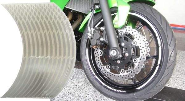 KEITI Voorgevormde wiel stickers Wit relfecterend