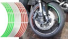 KEITI Voorgevormde wiel stickers Tricolore Italië