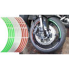 KEITI  Liserets de jante pré-courbé Tricolore Italie