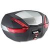 GIVI V47 top case reflecteurs rouges, finition aluminium