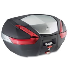 GIVI V47 top case reflecteurs rouges, finition aluminium