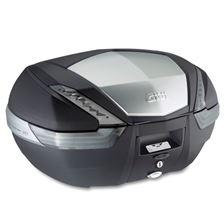 GIVI V47 topkoffer fumé reflectoren, aluminium afwerking